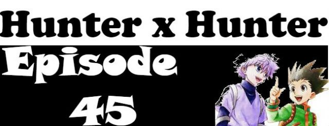 Hunter x Hunter Episode 45 English Dubbed
